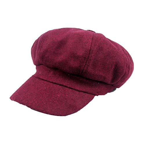 Demino Winter-Frau Barett Duckbill Ivy Cap Golf Driving Wohnung Cabbie Ballon- Hut Weihnachten # 1 Mode Ivy Cap