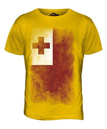 CandyMix Tonga Verblichen Flagge Herren T Shirt Dunkelgelb