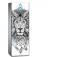 Vinilo para Frigorífico León Atrapa Sueños 185 x 60 cm | Adhesivo Resistente y de Fácil Aplicación | Pegatina Adhesiva Decorativa de Diseño Elegante