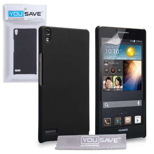 Foto Yousave Accessories Custodia per Huawei Ascend P6, Nero