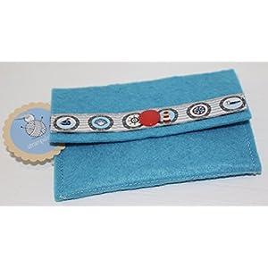 türkisfarbene kleine Geldbörse - Portemonnaie