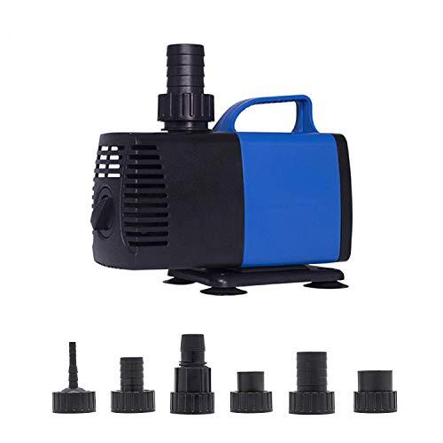 FOOL Super Eco Teichpumpe Filterpumpe Energiespar Wasserpumpe Bachlaufpumpe (3500-8500L/H) 3500L/H,920GPH