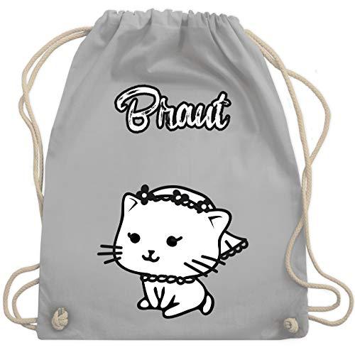 Hochzeit - Braut Katze - Unisize - Hellgrau - WM110 - Turnbeutel & Gym Bag