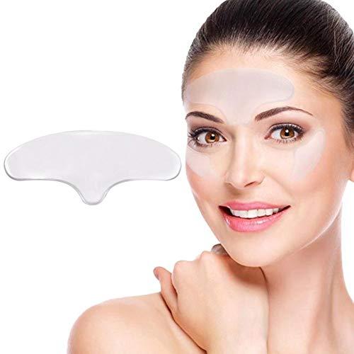 Anti-Falten-Patches, Anti-Falten Stirn Pads für Gesicht, Falten Collagen Stirnrunzeln Entfernung Wiederverwendbare Anti-Aging für verjüngte Haut Elastizität -