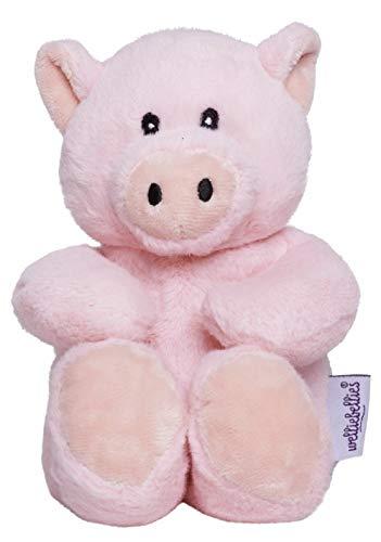welliebellies Midi Wärmekuscheltier für Kinder - Wärmekissen gegen Schmerzen und zum Wohlfühlen - Wohltuender Kräuterduft durch Rosmarin und Lavendel, Eukalyptus & Pfefferminz - Schwein - Schwein-schnuller