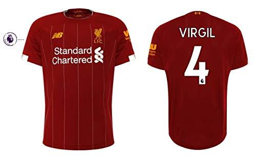 FC Liverpool Trikot Kinder 2019-2020 Home PL - Virgil Van Dijk 4 (164)