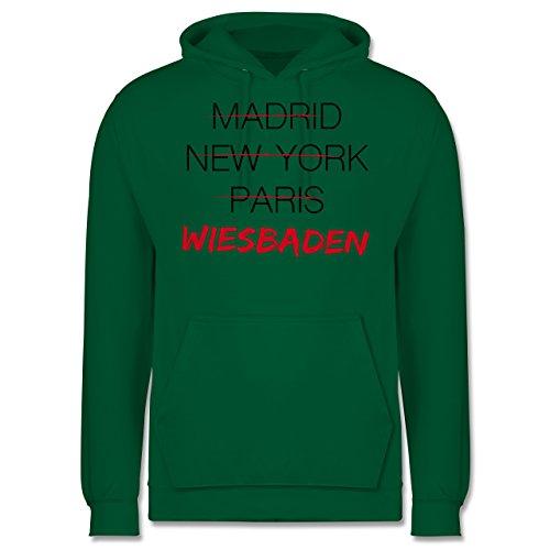 Städte - Weltstadt Wiesbaden - Männer Premium Kapuzenpullover / Hoodie Grün
