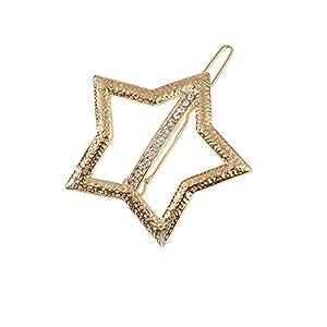 Sangni eine Reihe gebohrter Pentagram-Haarspangen