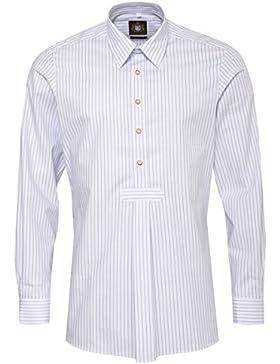 Hammerschmid Trachtenhemd Slim Fit Pfoad Zweifarbig in Hellblau und Grün