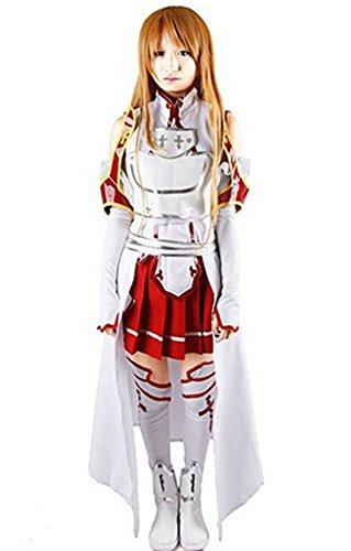 Miccostume Damen Asuna Yuuki kostüm mit DREI-di Nelle Brust Weiß und Rot Large