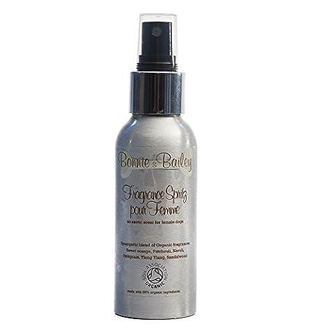 Parfum Pour Chien Bio Spritz/pour chien femelle pour femme/Soil Association certifié/100ml/par Bonnie & Bailey