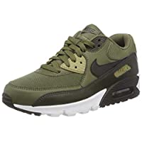 Nike Men's Air Max 90 Essential Gymnastics Shoes, Green (Medium Olive/Black/Sequoia/NEU 201), 7 UK,Aj1285