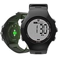 EZON T043A11 Herren Sports Digital Uhr mit optischem Sensor Pulsmesser, Doppelalarm, Schrittzähler, Kalorienzähler, Stoppuhr