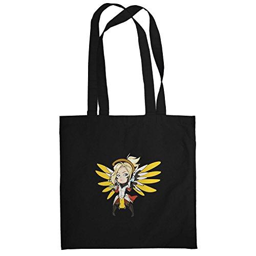 TEXLAB - Angel Wings - Stoffbeutel, schwarz
