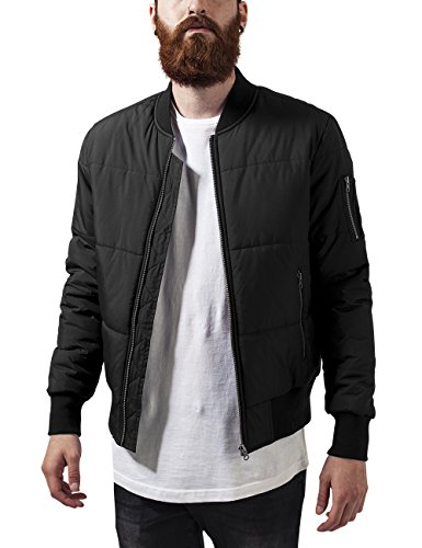 Urban Classics Basic Quilt Bomber Jacket, Giacca Uomo, Nero (Black 7), Medium