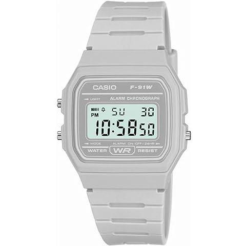 Unisex Casio Classic Alarm Chronograph Watch F-91WC-8AEF