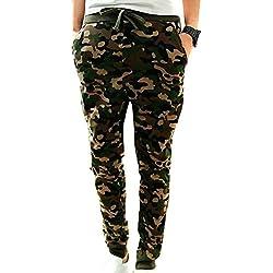 Camiseta de estampado de camuflaje del ejército de los hombres y pantalones cortos elásticos S-XL