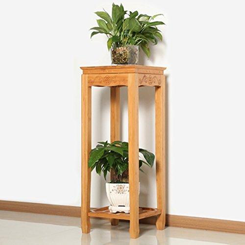 WSSF- Supports de pots Bambou Fleur Rack Salon Balcon En Bois Massif Antique Fleur Stand Salon Moderne Simple Multicouche Fleur Pot Présentoir ( taille : 29*29*78cm )