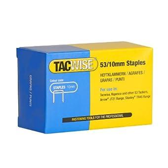 Tacwise Agrafes de Type 53 / 10 mm Galvanisées (Boîte de 5 000)