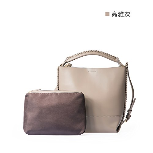 Automne/Hiver Original simplicité bentota baodan épaule sac à main en cuir neuf Light Grey