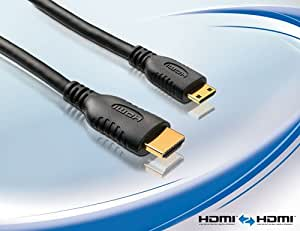 PureLink HC0015-01 - basic+ Serie. Zertifiziertes High Speed Mini HDMI Kabel mit 24 kt. vergoldeten Steckkontakten – FullHD 1080p, 1440p, 1600p, 2160p und 4Kx2K mit Deep Color und x.v.Color. Mini HDMI C Stecker auf HDMI A Stecker. Dreifache Abschirmung. HC0015-01. Länge: 1,00m
