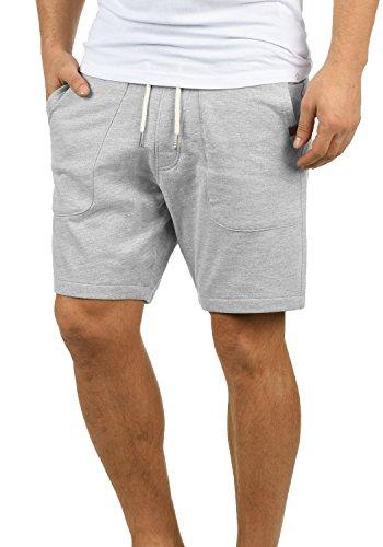 Blend Mulker Herren Sweatshorts Kurze Hose Jogginghose Mit Kordel Regular Fit, Größe:M, Farbe:Zink Mix (70815) - Gerippt Wolle Blend