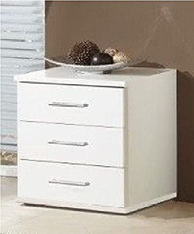 Germanica™ MUNICH Matching Chest Of Drawers In a Choice of 3 Colours and 3 Sizes (White Bedside Drawer)