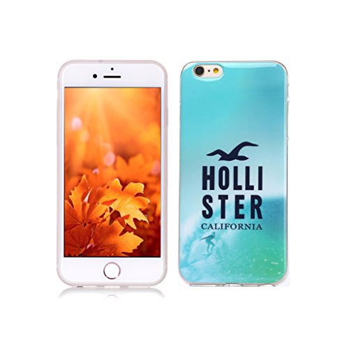 Funda iPhone 6S, Yunbaozi iPhone 6 Case Carcasa de Silicona Suave Protective Case * Patrón Interior Nunca Despegue * Funda Caucho TPU Piel Flexible Suave Cáscara Delgado Ligero - Anti-rasguños Anti Choque Diseño Creativo para iPhone 6/6S - Holli Step