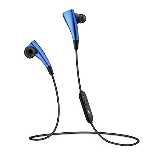 VicTsing Auriculares bluetooth V4.1 inalámbricos con sonido estéreo de magnético del imán Círculo y con cancelación de ruido auriculares aptX para Iphone, Sony y otros Teléfonos Móviles Android-Azul