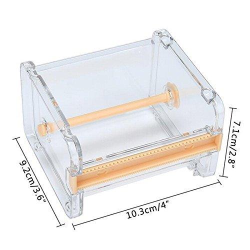 lianji 1 Stück Klebeband-Abroller für Schreibwaren, Klebeband, Aufbewahrung, Organizer, Schneider, Klebeband-Spender (gelb)