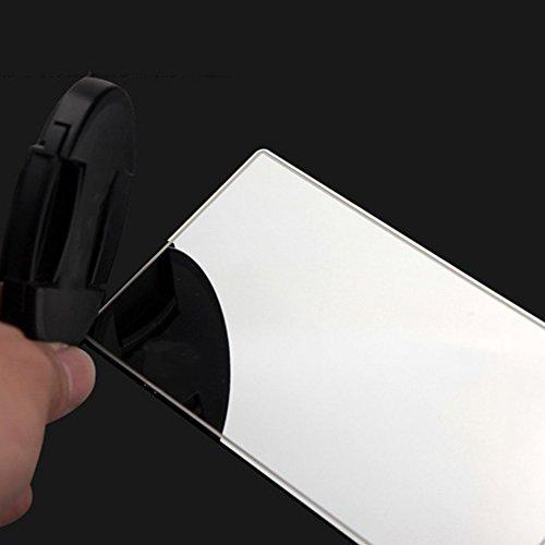 Swiftswan 15 * 8CM Praktische Auto-Schminkspiegel Sun-Shading Edelstahl Kosmetikspiegel (Farbe:...