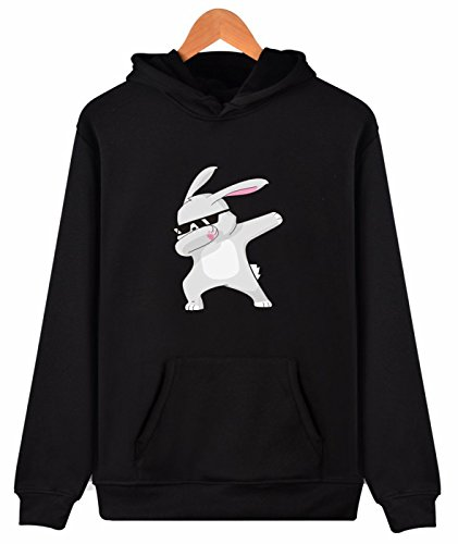 Idol Unisex Cartoon Tier Hoodie beiläufige Hoody Pullover Sweatshirt (Navy Plaid Kinder-schuhe)