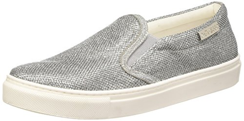 Guess Fabric Active - Sneakers basse da donna, Argento (Silver), 36