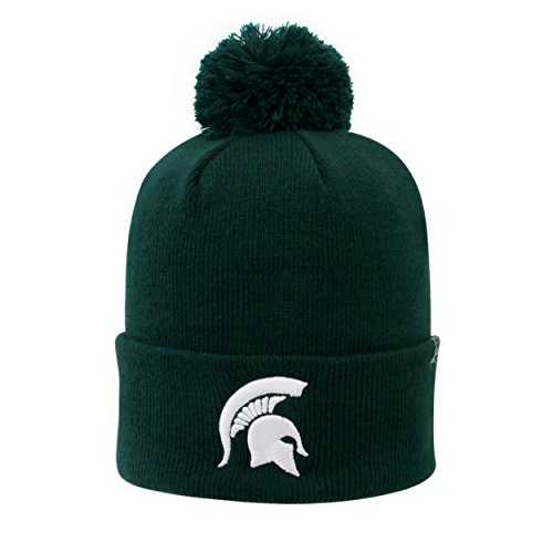 Top of the World beidseitigen Cuff Beanie Hat mit Pom Pom - NCAA Cuffed Knit Cap, Unisex, Michigan State Spartans (Ncaa Beanies Mit Pom)