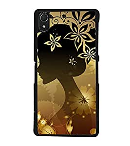 Fuson Premium 2D Back Case Cover Animated girl With red Background Degined For Sony Xperia Z2::Sony Xperia Z2 L50W D6502 D6503