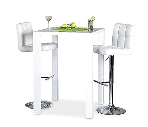 Bar-Tisch Tresen Küchentisch Weiß Hochglanz Stehtisch Bartresen Esstisch Ablage Küche