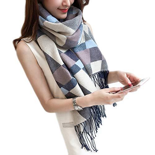 prezzi acquista l'originale caldo-vendita XING-ZI-scarf C-K-P Asciugamano da Spiaggia in Plaid Scialle e Scialle da  Donna, Imitazione Cashmere, (200x60cm)