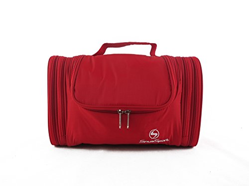 *JAN SALE*Sirius Sport: Hanging Toiletry Bag for Men, Women & Kids – Personal Shaving, Grooming & Cosmetic Kits Good for Travel, Home, Bathroom or Hotel–TSA Approved Large Size Waterproof(RED)