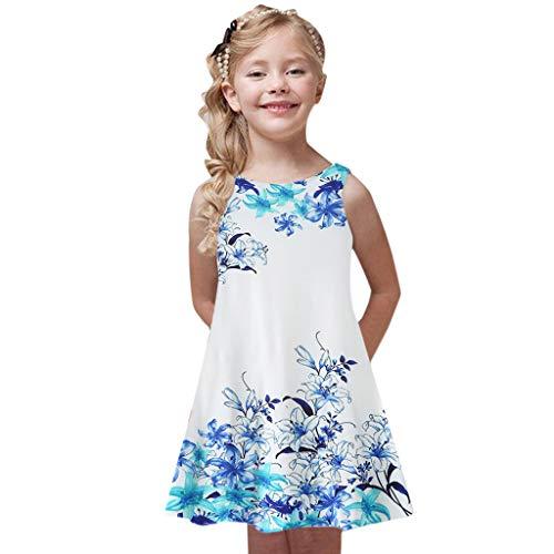 Mädchen Kleid Prinzessin Kinderkleider Ärmellos Kleider Blumenmädchen Festlich Kleid Heligen Kleinkind Festzug Kleidung Baby Printing Party Ärmellos Hochzeit Kleider