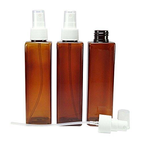 Menge 6 nachfüllbare Duftstoff ätherischen Ölen Zerstäuberflasche amber Kunststoff Parfüm-Spray-Flaschen Großhandel Aromatherapie 180 ml leere Flaschen (Für Flaschen ätherische öle Amber)