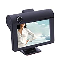 prettygood7 Car DVR, Rearview Video Dash Cam Recorder Camera Car Stereo In Dash Head Car DVD Player with Touch screen LCD Monitor 4 inch Dual Lens HD 1080P