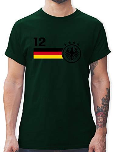 Fußball-Europameisterschaft 2020-12. Mann Deutschland Mannschaft WM - S - Dunkelgrün - L190 - Tshirt Herren und Männer T-Shirts