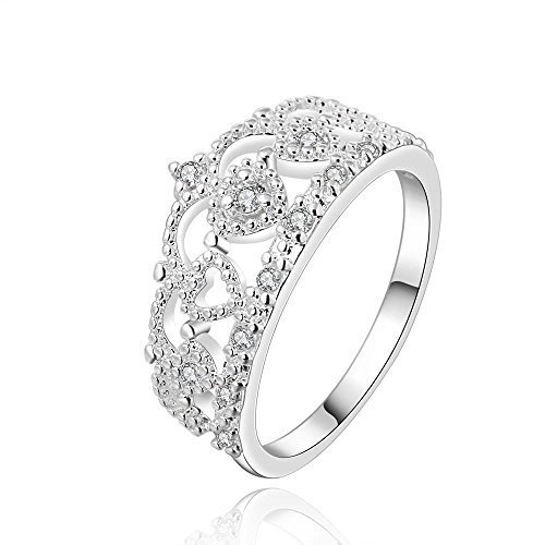 Sona Kissen (Luminous Versilberten Design Finger Ring Für Die Dame ,Silber,7)