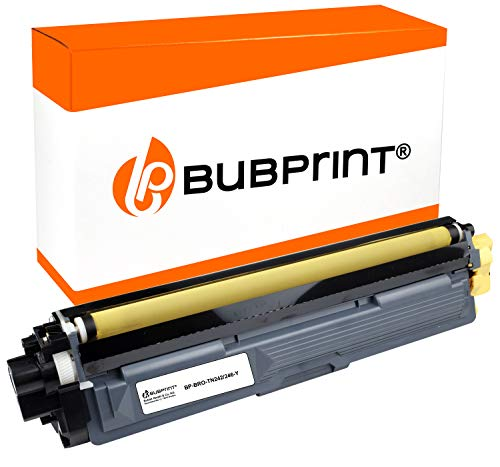 Bubprint Toner kompatibel für Brother TN-246 TN-242 TN-246Y für DCP-9017CDW DCP-9022CDW HL-3142CW HL-3152CDW HL-3172CDW MFC-9142CDN MFC-9332CDW Gelb -