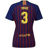 2018-2019 Barcelona Home Nike Ladies Football Soccer T-Shirt Camiseta (Gerard Pique 3)