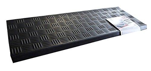 FabaHome Premium Stufenmatte schwarz profiliert, Treppenmatte Gummi mit Winkelkante, Treppenstufenmatte, Innen- und Außenbereich, sehr robust,5 Stück