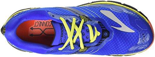 Brooks Puregrit 5, Chaussures de Course Homme Multicolore (Electricbrooksblue/black/limepunch)