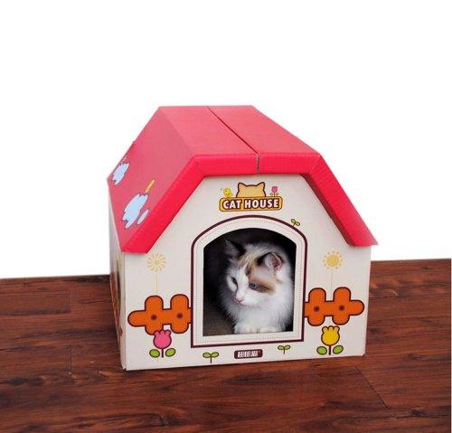 diy-pliable-pour-chat-maison-en-carton-plie-pour-chat-40-45-35-cm