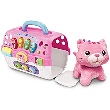 VTech Pink Baby Cosy Kitten Carrier Toys: VTech: Amazon.co.uk ...