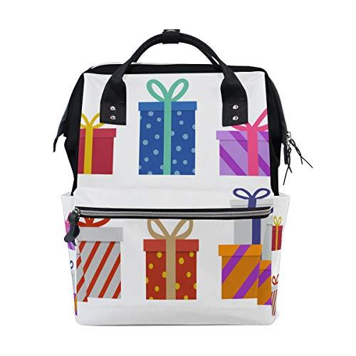 Weihnachtsgeschenkbox Präsentiert Große Kapazität Wickeltaschen Mama Rucksack Multi Funktionen Wickeltasche Tote Handtasche Für Kinder Babypflege Reise Täglichen Frauen